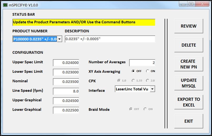 mSPECIFY for measureOD Screenshot
